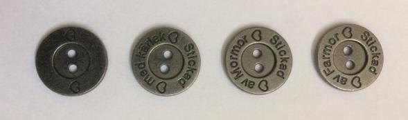 Metallknappar 15 mm