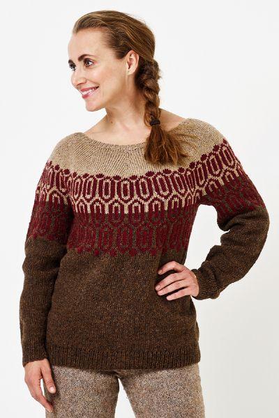 899006 Mönstrad damsweater