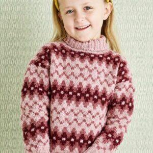 899015 Mönstrad barnsweater